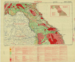 Indo-China and Siam 1:1,000,000, Geology (Sheet 2 - Central)